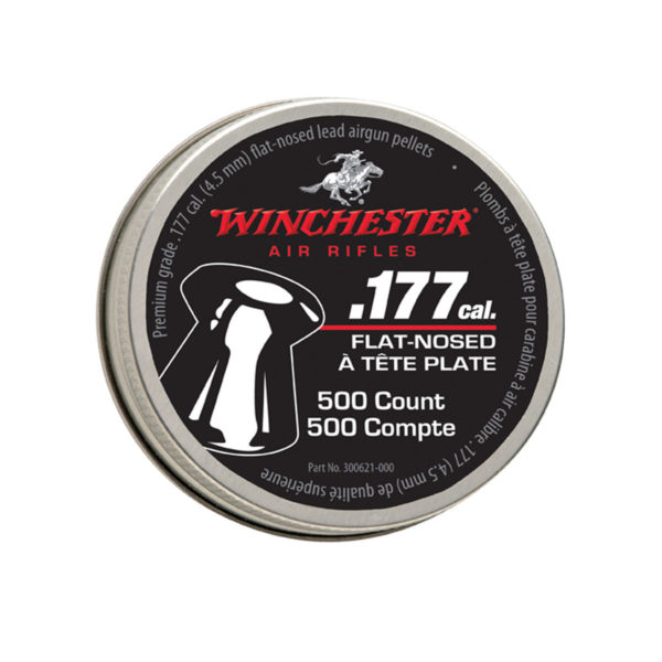 Winchester .177 Caliber Flat Nose Pellets, 500-Count