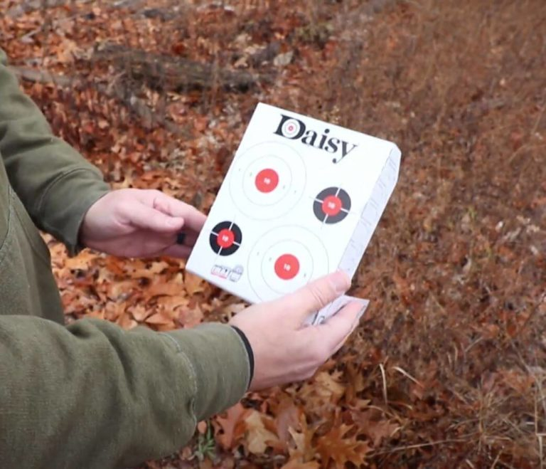 Daisy-fold-n-fire target for bb guns and bb pistols